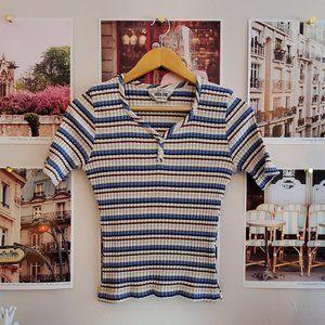 Vintage 90s Smart Set Striped Ribbed Top